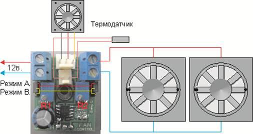 Схемa регулировки оборотов вентиляторa